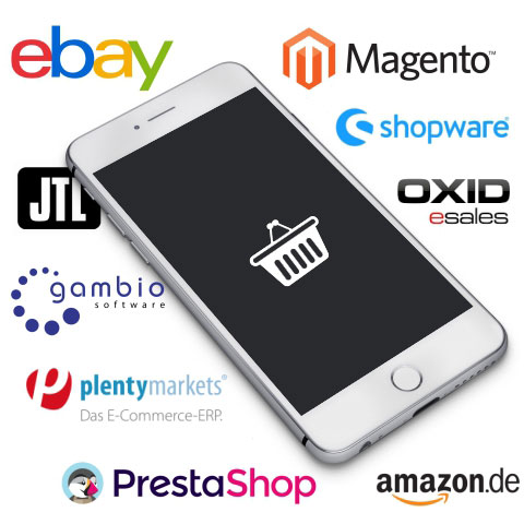 E-Commerce Systeme für Magento, shopware, gambio, plenty markets, ebay, amazon