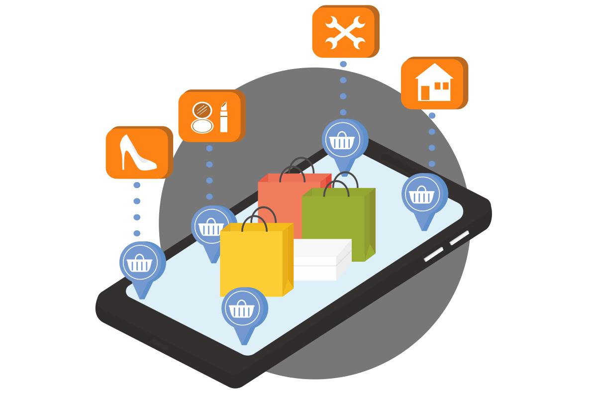 E-Commerce Schaubild Omnichannel