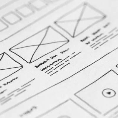 Mockup eines modernen Webdesigns