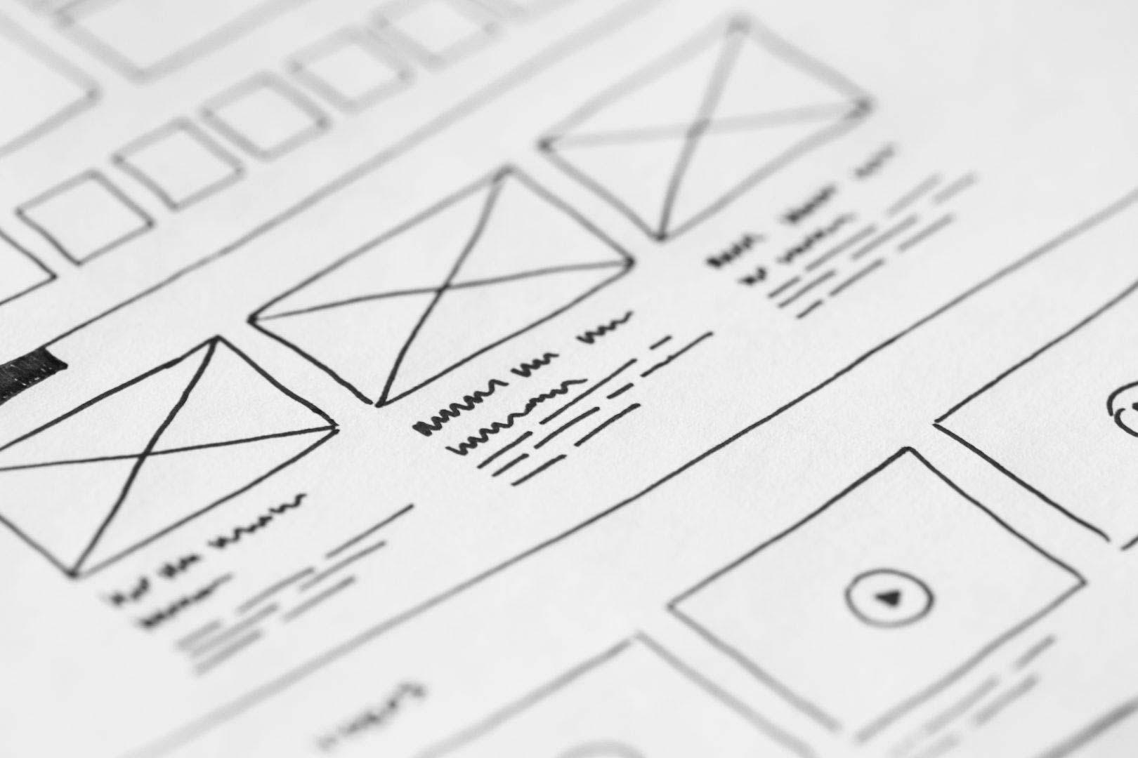 Mockup eines modernen Webdesigns, User Experience, Responsives Design