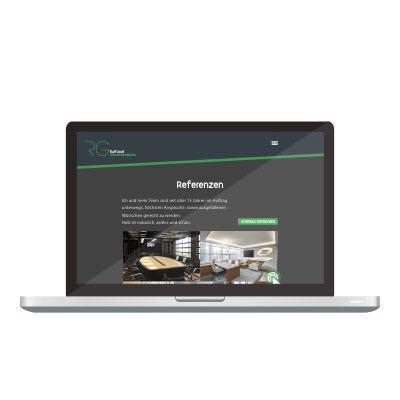 Desktop Webdesign welches durch die skriptstube erstellt wurde