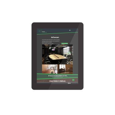 Tablet Webdesign welches durch die skriptstube erstellt wurde